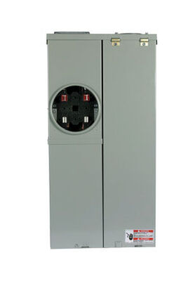 Eaton BR 200 amps 4 space 8 circuits 120/240 volts Surface Single Pole Main Breaker Load Center