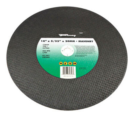 Forney 14 in. Dia. x 5/32 in. thick x 20 mm Masonry/Asphalt Cutting Wheel