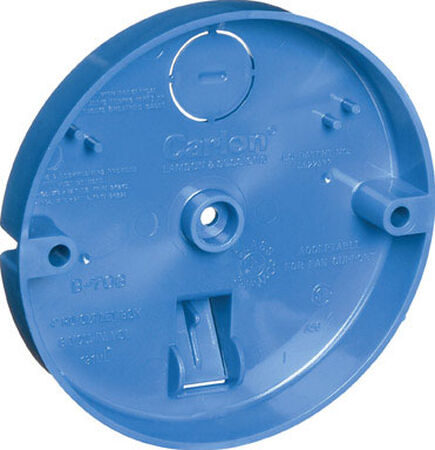 Carlon 3/4 in. H Round 1 Gang Outlet Box Blue PVC