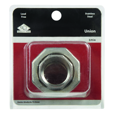 Smith-Cooper 3/4 in. Dia. x 3/4 in. Dia. FPT To FPT Stainless Steel Union