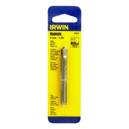 Irwin Hanson High Carbon Steel 8mm-1.00 mm Metric Plug Tap 1 pc.