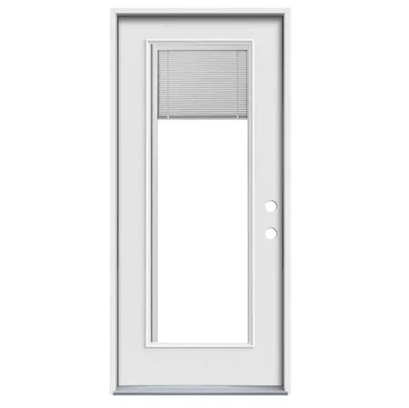 Door 36 in x 80 in Full Lite w/Blind Right Hand