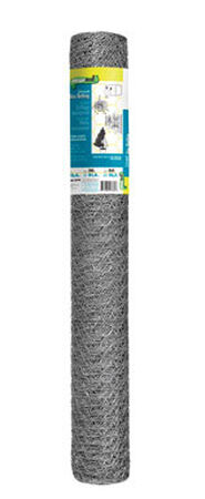 Garden Zone Poultry Netting 36 in. H x 50 ft. L 20 Ga. Silver