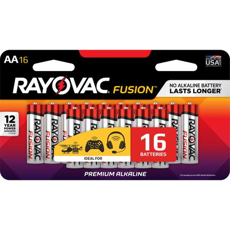 Rayovac FUSION AA Batteries 1.5 volts 16 pk