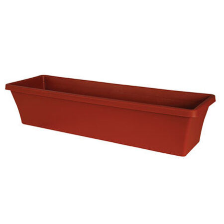 Bloem Terrabox Terracotta Clay Resin Traditional Planter 5.2 in. H x 24 in. W