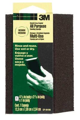 3M Aluminum Oxide Angled Sanding Sponge 4-7/8 in. W x 2-7/8 in. L Medium 80 Grit