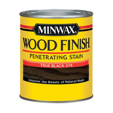 Minwax Semi-Transparent True Black Oil-Based Wood Stain 1 qt.