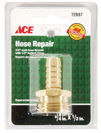 Ace 1/2 in. Hose Barb x 3/4 in. Male Brass Hose Repair Male Threaded