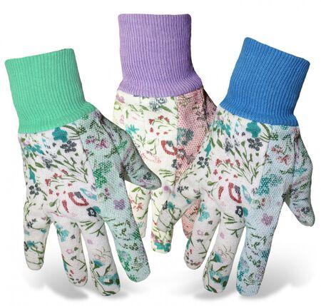 Glove Ladies Jersey PVC Dots