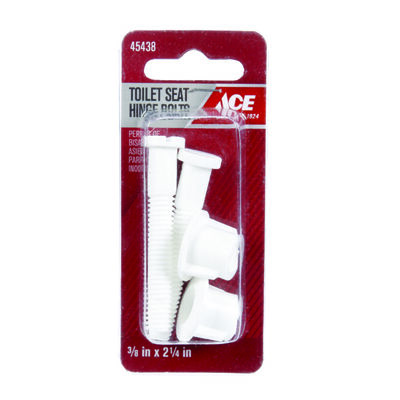 Ace Toilet Seat Hinge Bolts Plastic