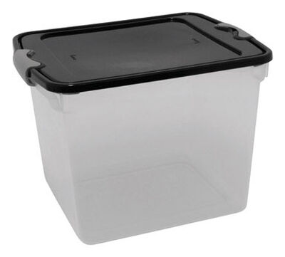 Homz Latching Storage Box 12-1/8 in. H x 13 in. W x 31 qt.