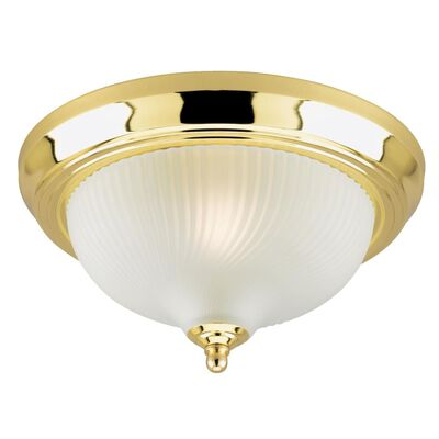 Westinghouse Polished Brass Ceiling Fixture 5-7/8 in. H x 11 in. W