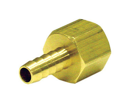 Ace Brass Hose Barb 1/4 in. Dia. x 3/8 in. Dia. Yellow 1 pk