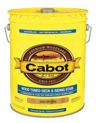 Cabot Wood Toned Transparent Oil-Based Deck and Siding Stain Natural 5 gal.