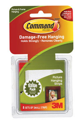 3M Command 1 lb. Picture Hanging Strips Small Foam 8 pk