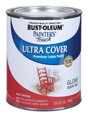 Rust-Oleum Painters' Touch Ultra Cover Interior/Exterior Latex Paint Apple Red Gloss 1 qt.