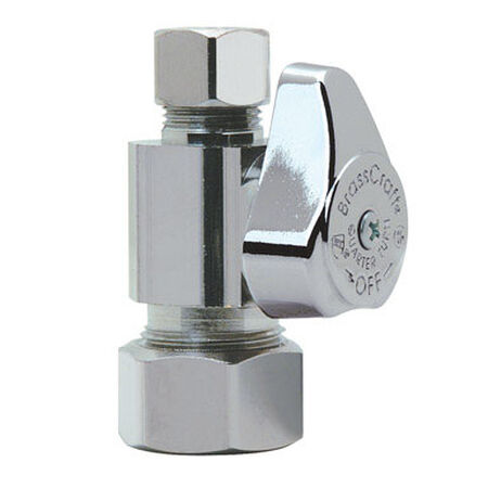 Brasscraft 5/8 in. Dia. x 3/8 in. Dia. Straight Shut-Off Valve Brass