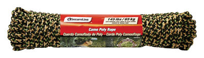 SecureLine 5/16 in. Dia. x 75 ft. L Diamond Braided Poly Rope Camouflage