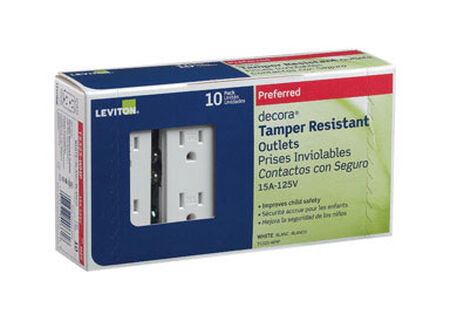 Leviton Decora Electrical Receptacle 15 amps 5-15R 125 volts White
