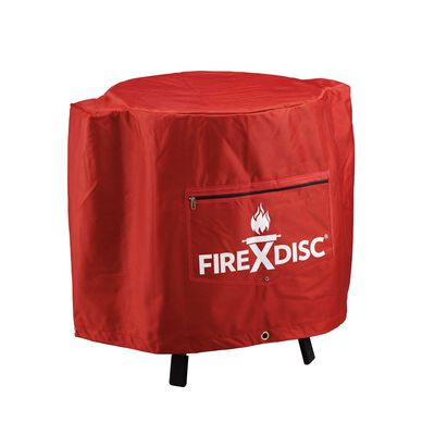 FireDisc Grills Red Grill Cover 24 in. H x 22 in. W x 22 in. D Fits FireDisc Grills