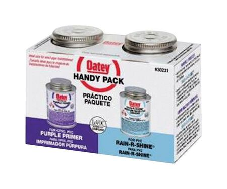 Oatey Handy Pack Purple/Blue PVC Primer and Cement 2 pk