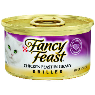 Purina Fancy Feast Chicken Feast in Gravy Grilled All Ages Cat Food 3 oz.