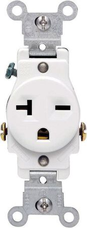 Leviton Electrical Receptacle 20 amps 6-20R 250 volts White