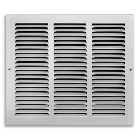 Tru Aire 12 in. H x 14 in. W White Steel Return Air Grille