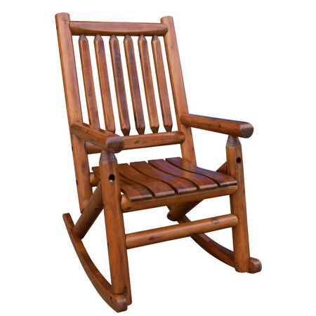 Amber-Log Single Porch Rocker