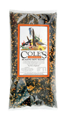 Cole's Blazing Hot Blend Assorted Species Wild Bird Food Sunflower Seeds and Millet 10 lb.