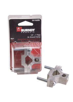 Burndy 1 in. Aluminum Alloy Dual Rated Ground Clamp 1