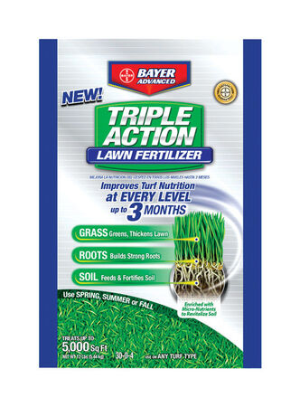 Bayer Advanced Triple Action Lawn Fertilizer Spring/Summer/Fall All Grass Types 5000 sq. ft. Gr