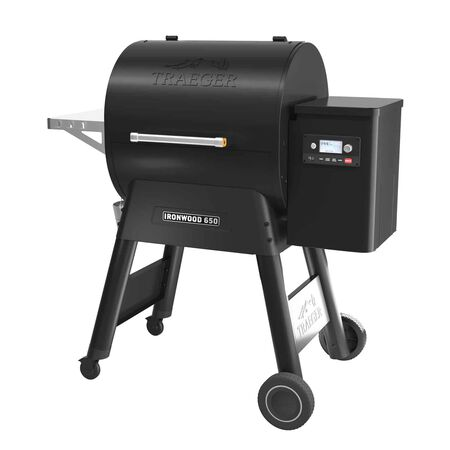 Traeger Ironwood 650 Wood Pellet Freestanding Grill Black