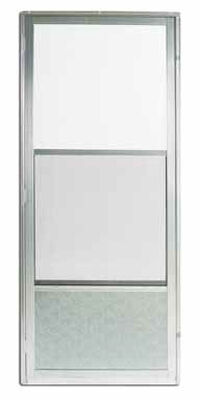 Croft Self-Storing Storm Door Self-Storing Imperial Style 161 80 in. x 32 in. Aluminum Right 32 in.