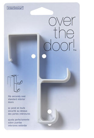 InterDesign Over the Door Hook 5-1/2 in. L Plastic 1 pk