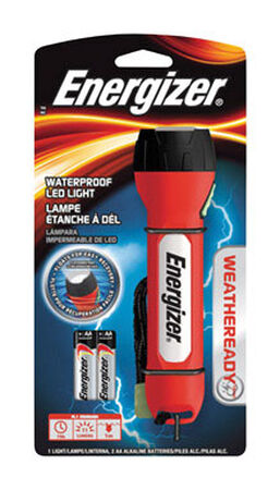 Energizer Weatheready 11 lumens Flashlight LED AA Red/Black