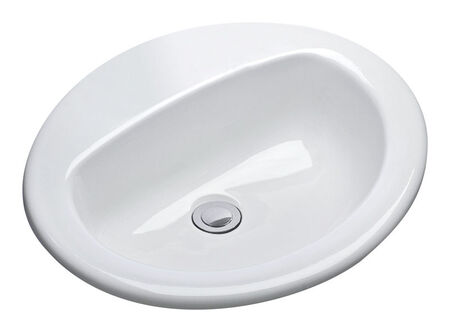 Mansfield MS Oval 17 in. Lavatory Sink White