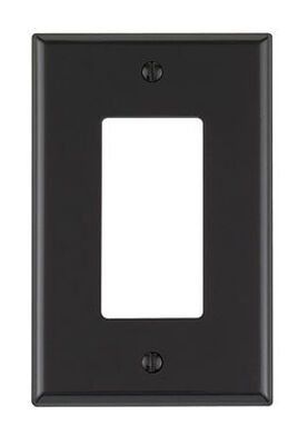 Leviton 1 gang Black Nylon Rocker/GFCI Midsize Wall Plate 1 pk