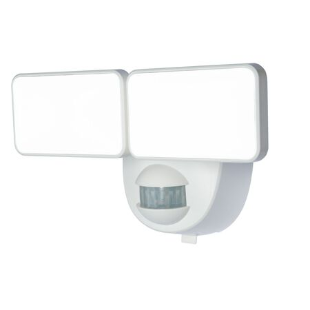 Heath Zenith White Plastic Battery Operated Security Light Motion-Sensing LED 1.5 volts