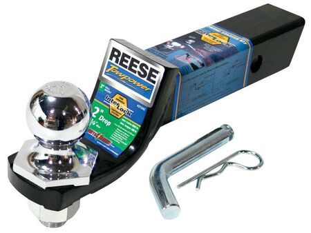 Reese Towpower Steel Locking Ball Mount Lock 9 in. L 6000 Silver/Black