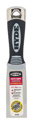 Hyde 1-1/2 in. W Stainless Steel Putty Knife Rubber Flexible