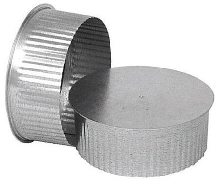 Imperial Manufacturing 6 in. Galvanized Steel Pipe End Cap 30 Ga.