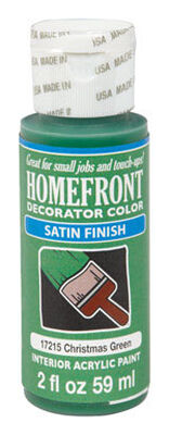 Homefront Decorator Color Christmas Green Acrylic Latex Satin 2 oz. Paint