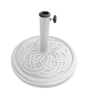 Bond Manufacturing Resin Stone Umbrella Base 13.18 in. H x 17.7 in. W White