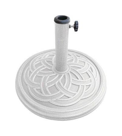 Bond Manufacturing Resin Stone Umbrella Base 13.18 in. H x 17.7 in. W White
