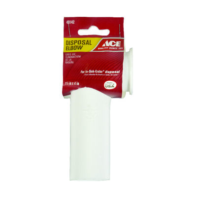 Ace Garbage Disposal Elbow White