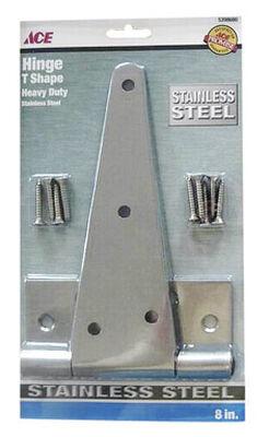 Ace Metal Heavy Duty T Hinge 8 in. L Stainless Steel 2 pk