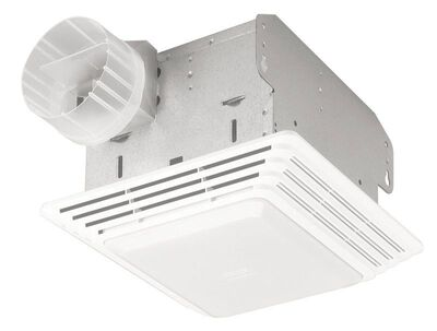 Broan Ventilation Fan and Light Combination Ceiling 10-5/8 in. D x 7-3/4 in. H x 11-1/8 in. W
