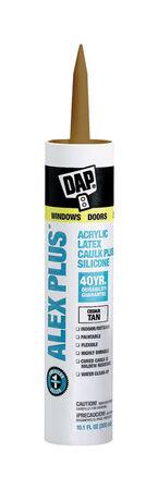 Dap Alex Plus Cedar Tan Acrylic Latex All Purpose Caulk 10.1 oz.
