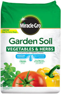 Miracle-Gro Vegetables & Herbs Moisture Control Garden Soil Fertilizer Enriched
